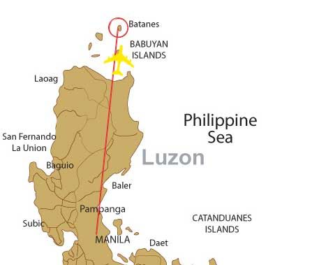 Batanes Philippines Map Location map travel by air from Manila to Batanes | Travel by Air