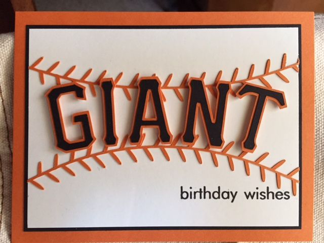 Giant Birthday Wishes For Our Sf Baseball Fan By Rdm Cards And Paper Crafts At Splitcoaststampers Card Craft Birthday Cards For Boyfriend Birthday Wishes