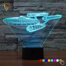 Novelty Star Trek Night Light 3d Lampe Star Wars Usb Led Lighting Luminaria De Mesa Table Decor Bedside Nig Star Trek Decor 3d Led Night Light Night Light Lamp