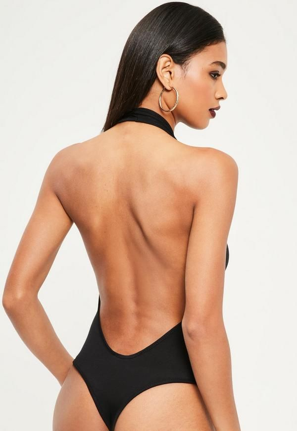 99c46efe3ee4 Show off your sex appeal for the new season in this halter neck plunge  bodysuit. In a flawless nude hue this one is killer. With open back feature  this one ...