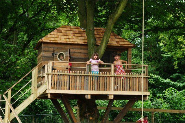 Hervorragend baumhaus kinderspiele garten geländer plattform sicherheit  QK87