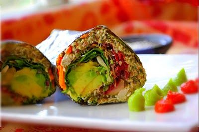 Sprouted Lentil and Sunflower Nori Rolls