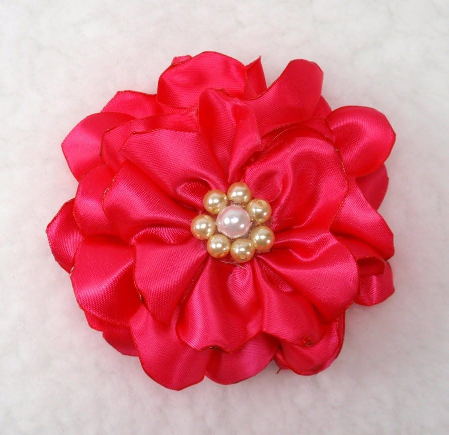 Satin Flower Tutorial 1 Yard Of Satin Ribbon Scissors
