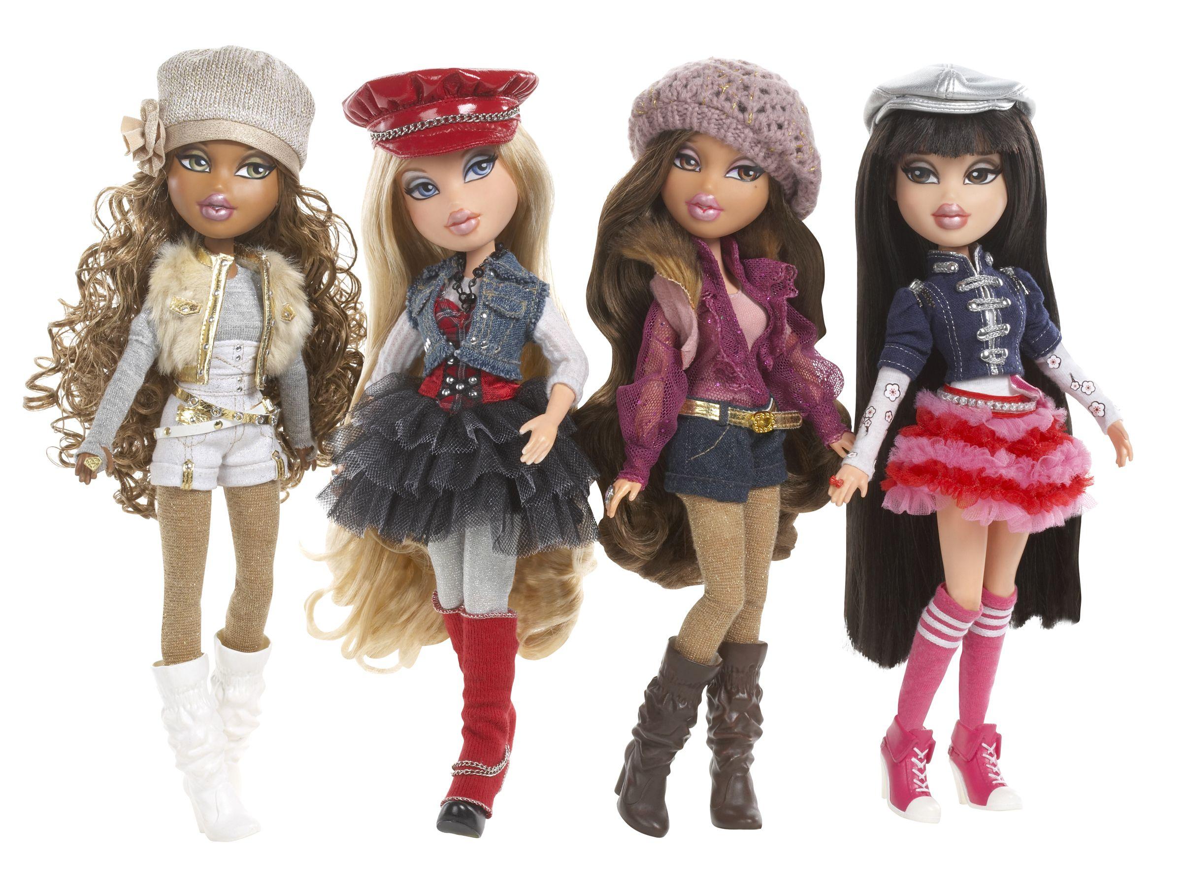 Cute hairstyles for barbie dolls - Bratz 10th Anniversary Dolls 2010