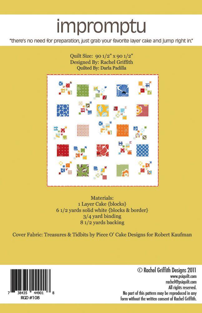 Image Of Impromptu Quilt Pattern 108 Pdf Version Sewing