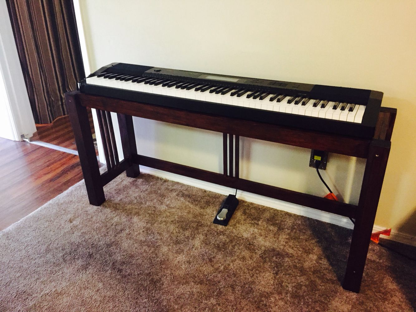 I Built A Keyboard Stand To Compliment Our Existing Mission Style Furniture.