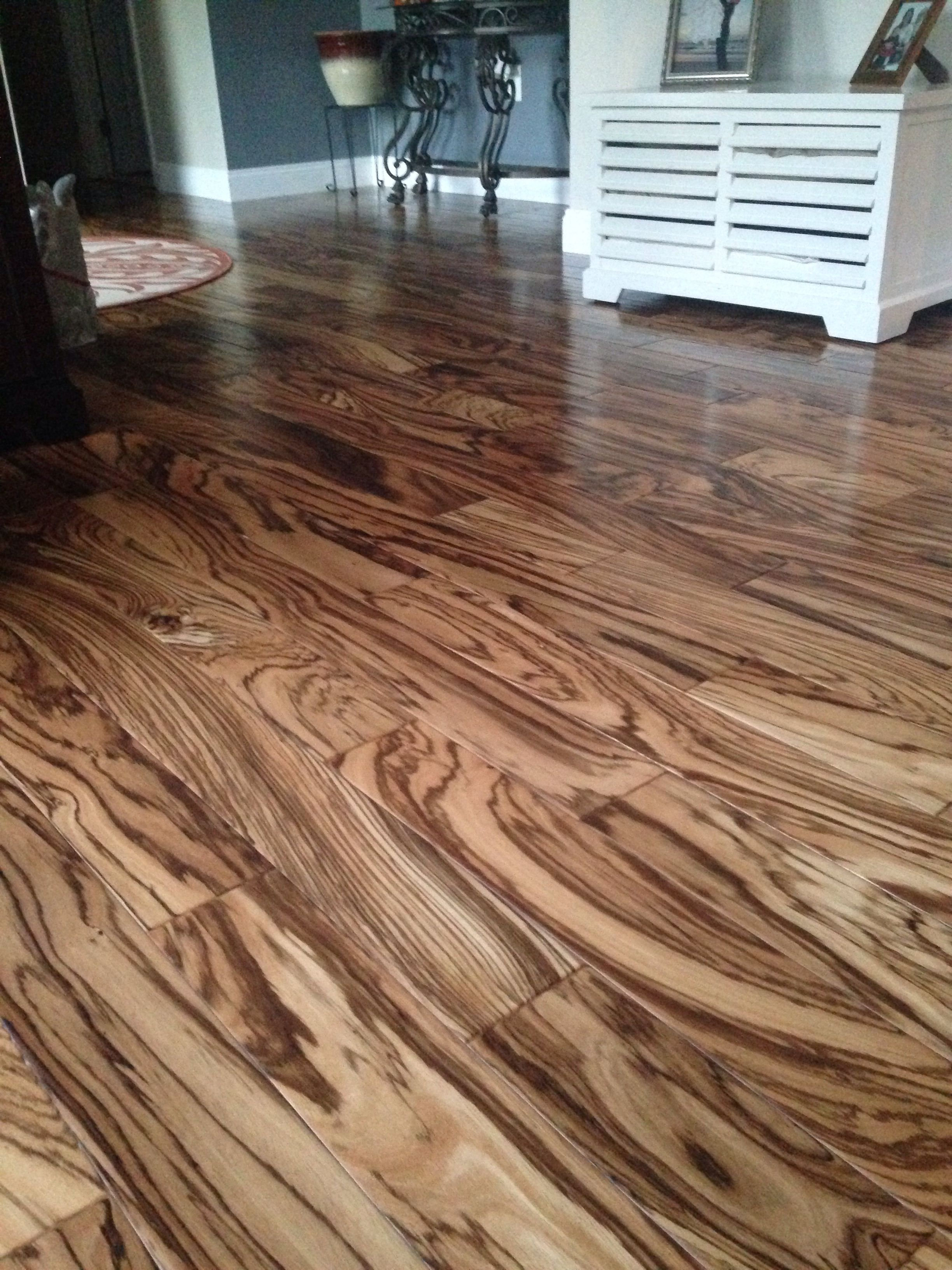Tiger wood hardwood floors  House Ideas in 2019  Diy