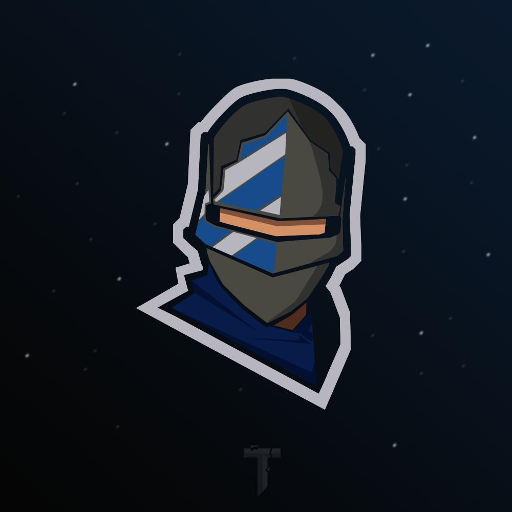 Blue Squire Mascot Logo Game Logo Design Game Logo Mascot