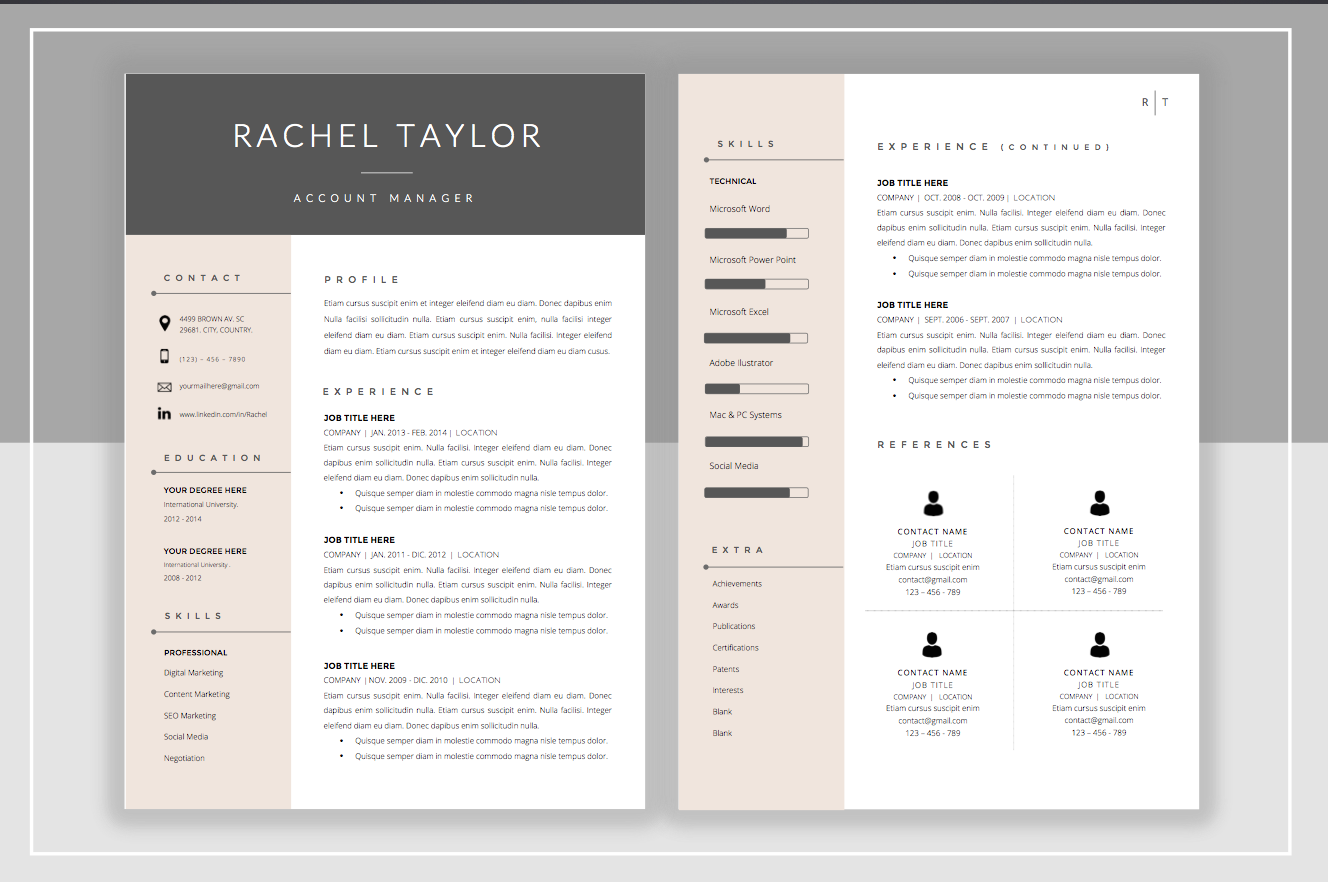 Resume Template Cover Letter Template Cv Ideas And Resume Cv