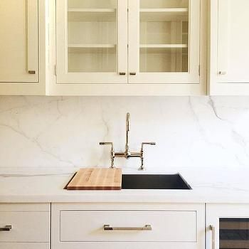 Kitchen Sink With Sliding Chopping Board Transitional Kitchen
