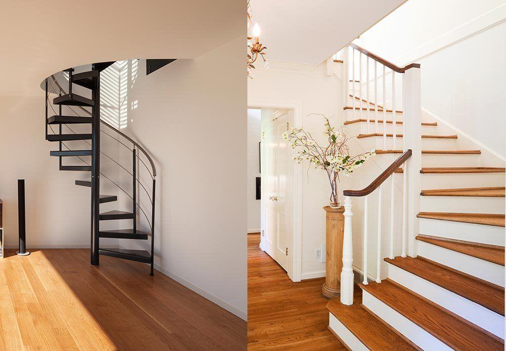 Valg av trapp til huset kan ha mye å si for det totale uttrykket.