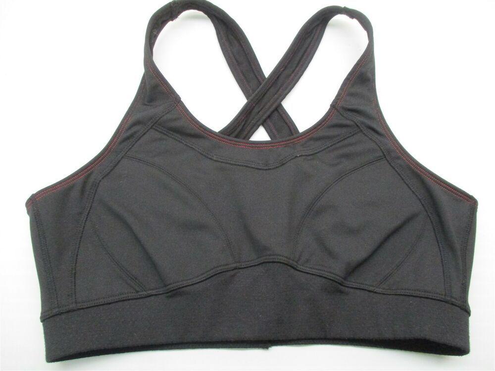 NWT Victorias Secret VS Incredible Sport Sports Yoga Bra 34DDD Blk-Gray