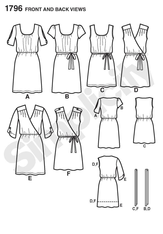 Simplicity 1796   DIY Fashion   Pinterest   Costura, Patrones de ...