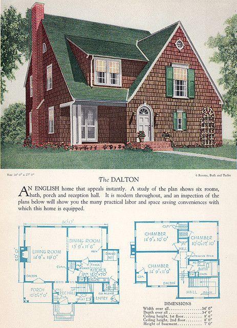 1928 Home Builders Catalog The Dalton Craftsman Style House Plans Vintage House Plans House Plans