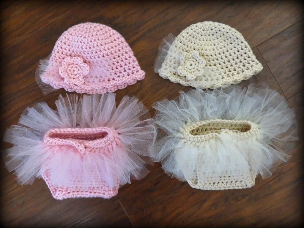 Tutu Baby Diaper Cover and Hat Set | Blusas, Tejido y Bordado