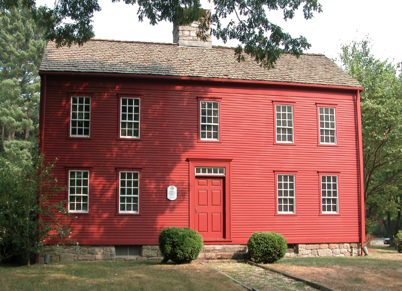 Darien Historical Society Invites The Primitive Homes Colonial Exterior Red Houses