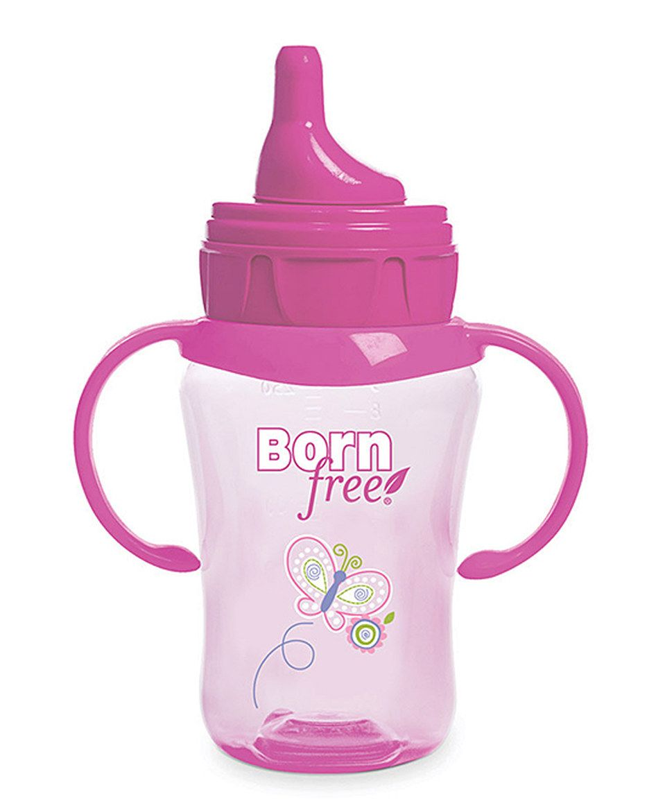 Loving this Born Free Pink Butterfly 9-Oz. Training Cup on #zulily! #zulilyfinds