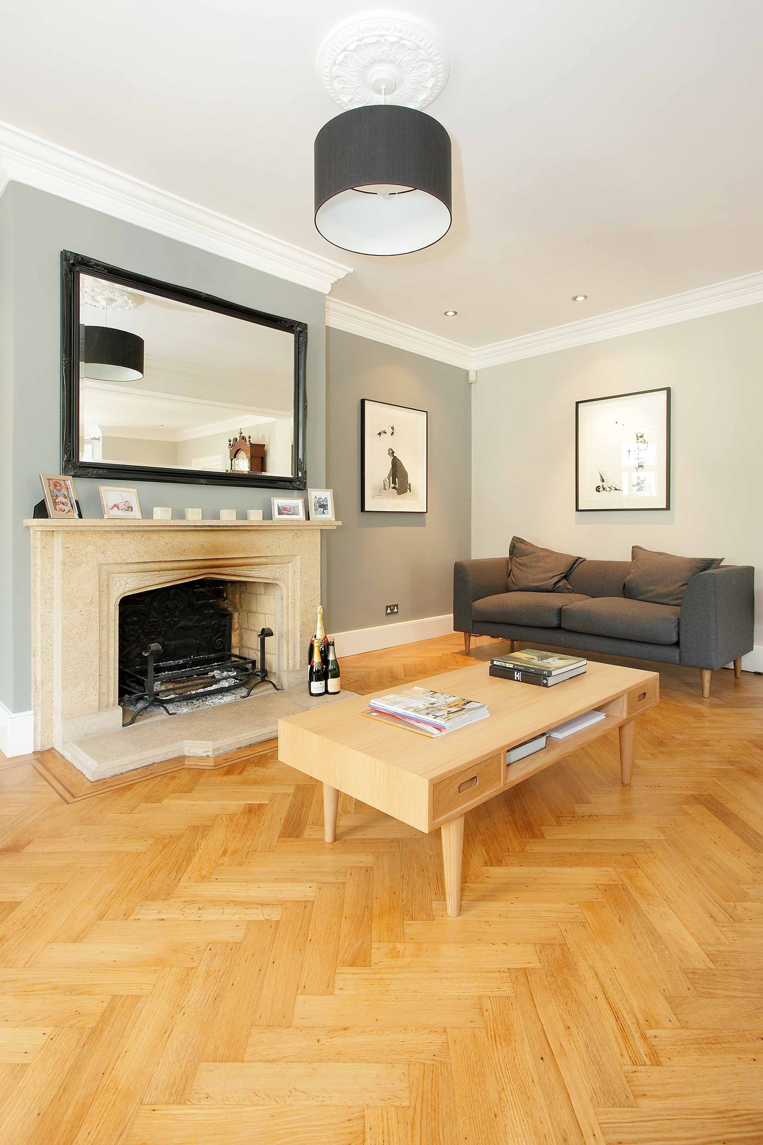 Original Solid Oak Parquet Herringbone Wood Flooring Was Discovered By Our Client Under A Cheap Worn Out Ca Herringbone Wood Herringbone Wood Floor Wood Floors