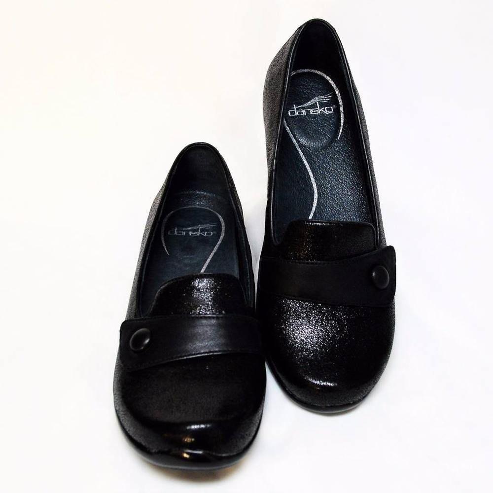 7a8598dad3a NEW Dansko Olena Womens 9.5 10 40 Loafers Shoes Black Crackle Suede Low  Heel  Dansko  Loafers  WeartoWork