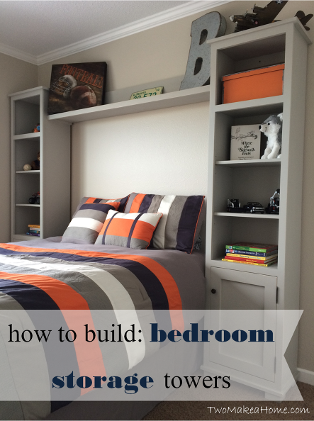 How to Build Bedroom Storage Towers | Remodel bedroom, Boys