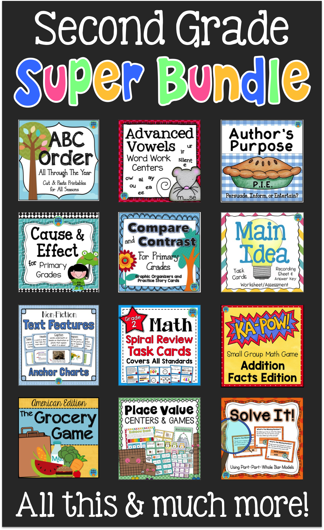 Second Grade Reading Amp Math Resources For The Whole Year