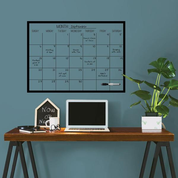 Wall Pops Black On Clear Monthly Calendar Decal
