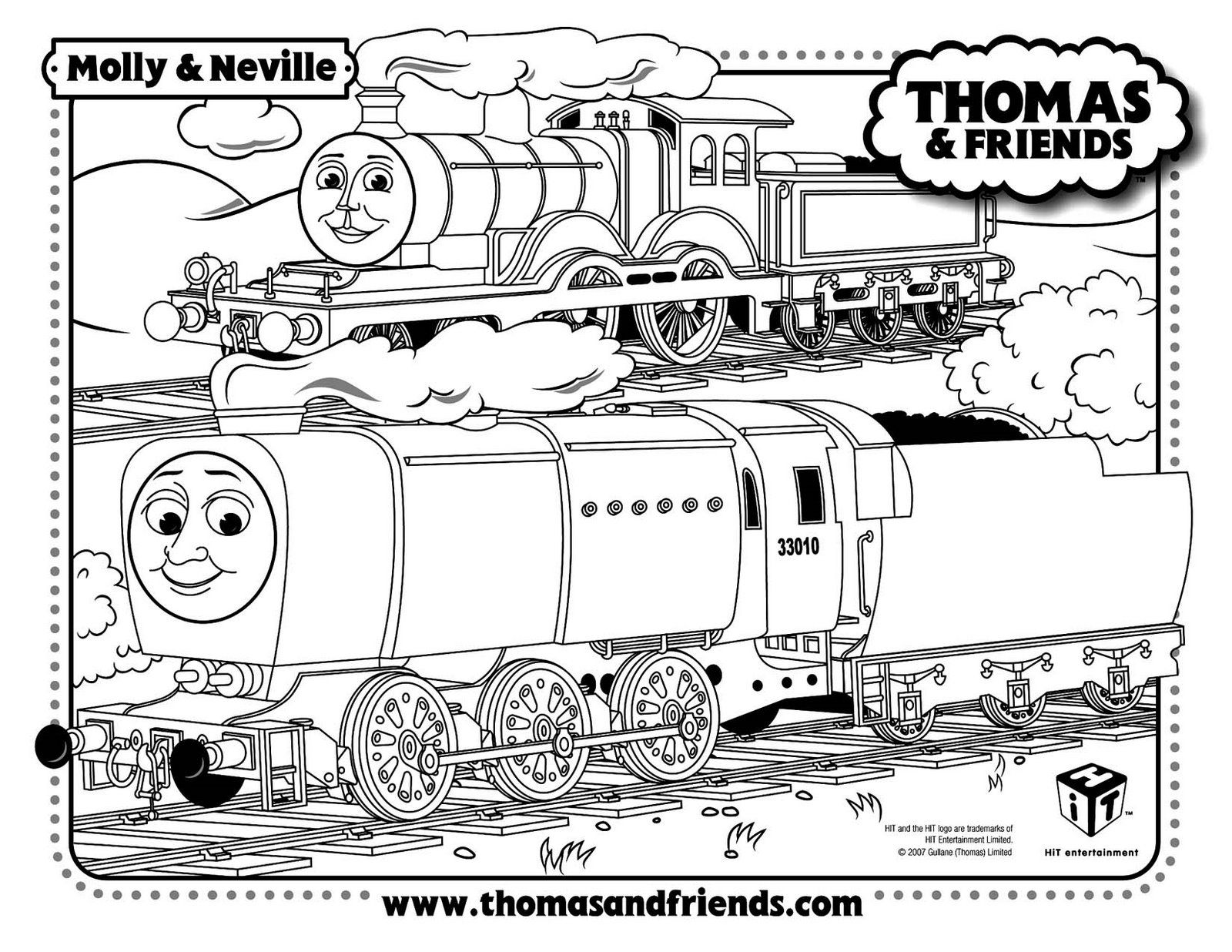 molly and neville thomas the tank train coloring pages thomas