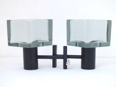 Seguso italy design flavio poli lampade muro wall lamps years