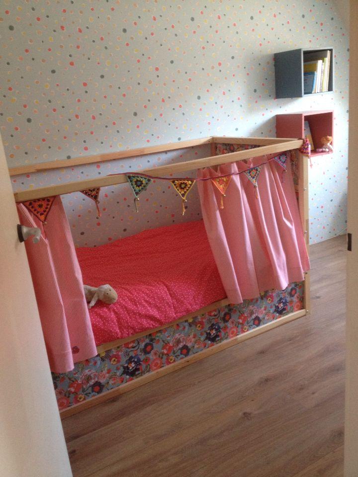 Best Ikea Hack Kura Bed With Oilily Wallpaper Kura Bed 640 x 480