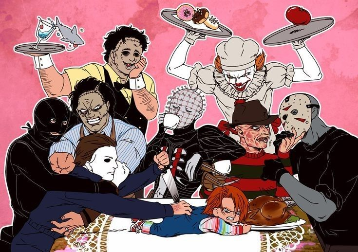 Pin By Garfield On Horror In 2020 Horror Movies Funny Horror Characters Horror Movie Characters