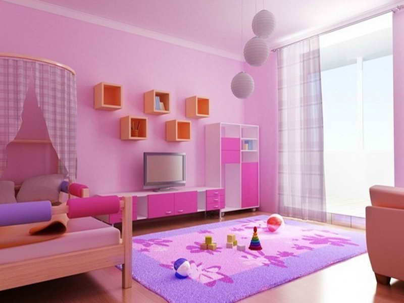 wall paint decoration ideas pink colour | Bedroom Designs ...