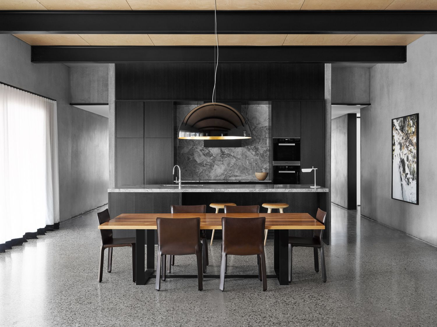 Bendigo House Modern Kitchen Interior Design Awards Australian