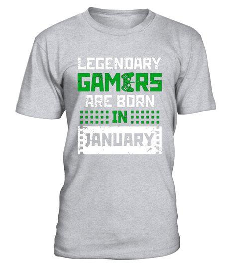 Legendary Gamers Birth T Shirt January Gift Video Gaming Tee