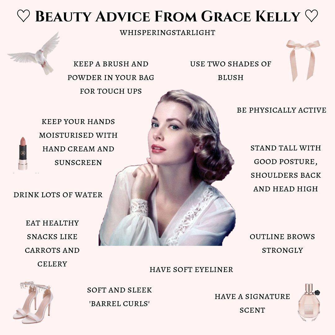 """anna ♡ auf Instagram: """"ein kleiner Beitrag über Schönheitstipps von Grace Kelly. ich liebe…   – Over 30 Skin Care Tips"""