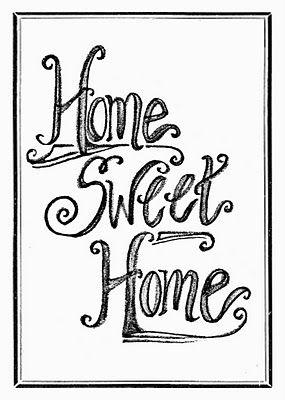 Home sweet home clipart | ~Hearth-n-Home~ | Clip art, Wall art