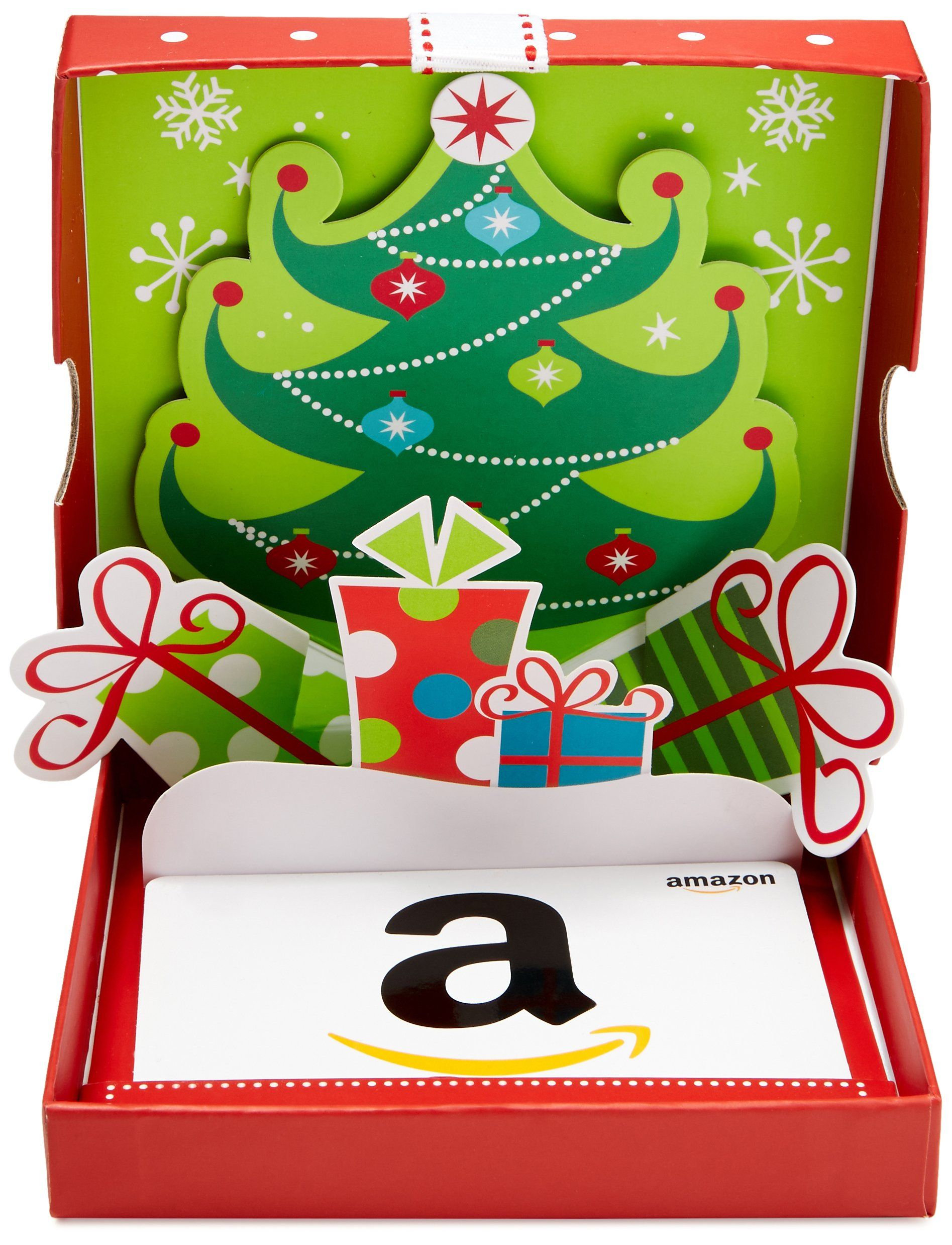Gift card in a holiday popup box check this