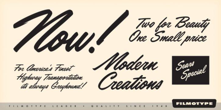 Filmotype Leader™ font download   Fonts   Typeface font