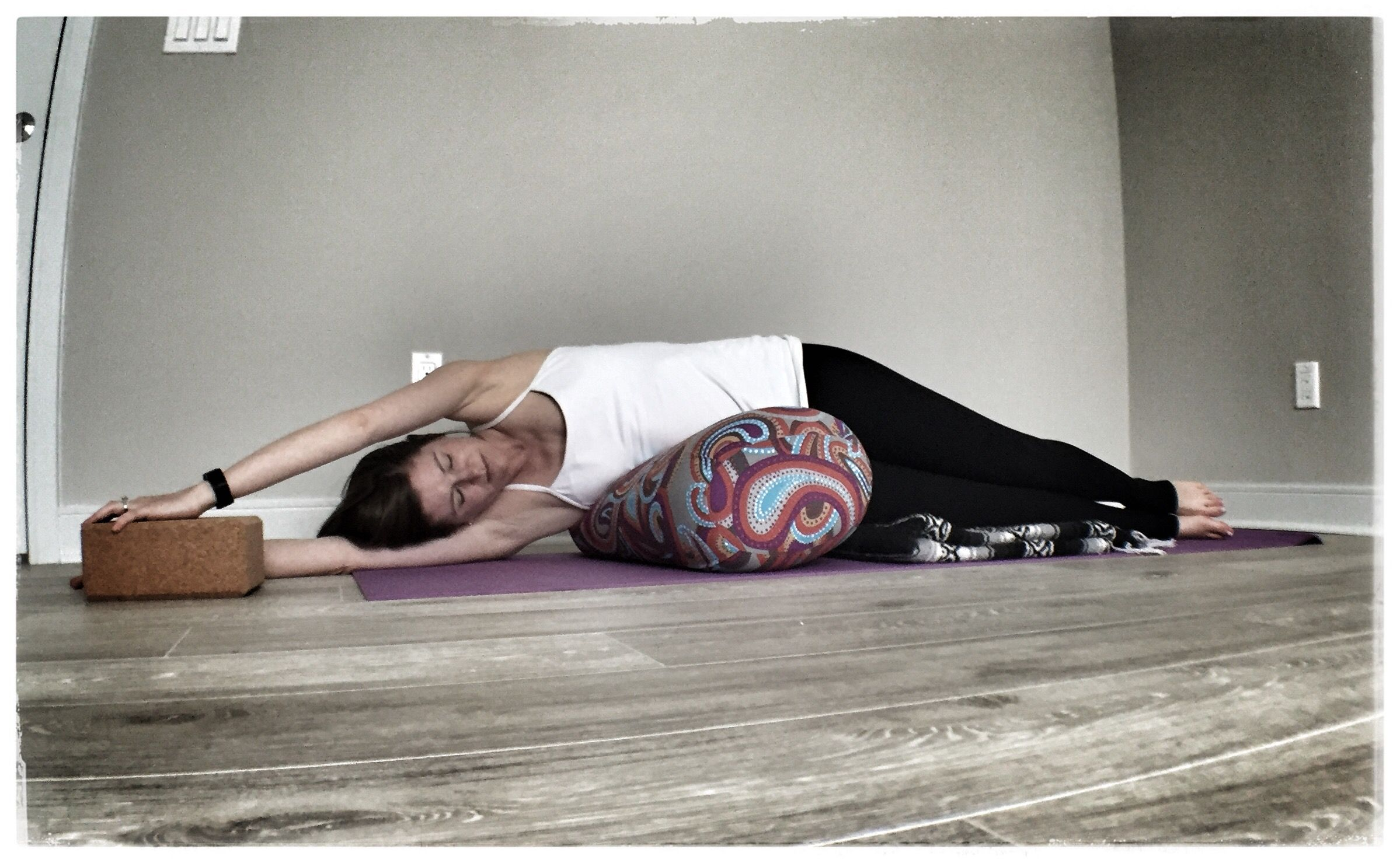 Side Lying Stretch Or Banana Pose Is A More Active Pose