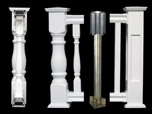 Square & Turned Balusters & Structural Post Mount Shown