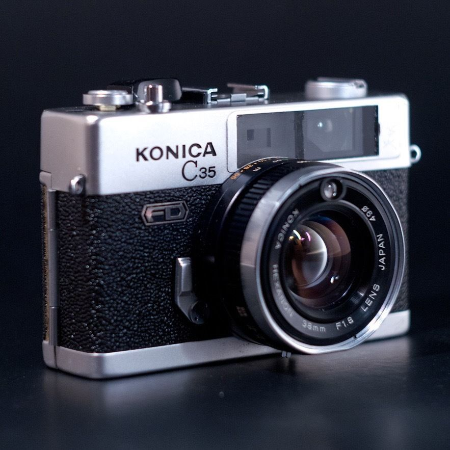 KONICA C35 EF3 Blue w/ Hexanon 35mm f2.8 Lens from JAPAN