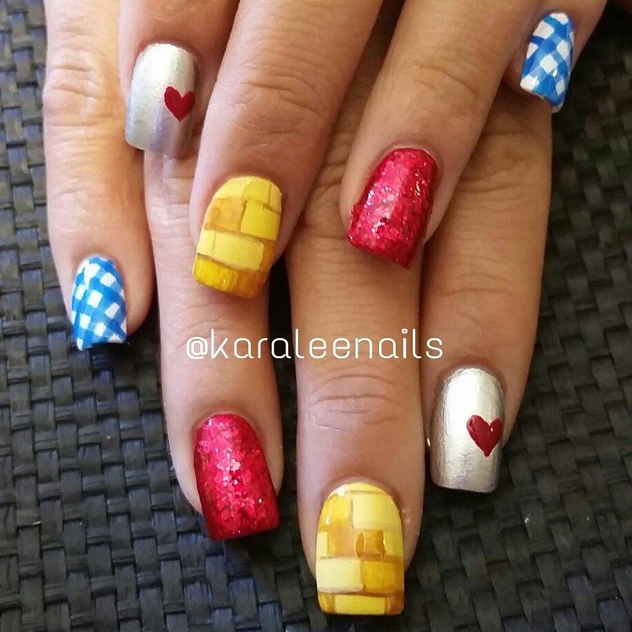 Wizard of oz nails by me   Nails   Pinterest   Fingernägel