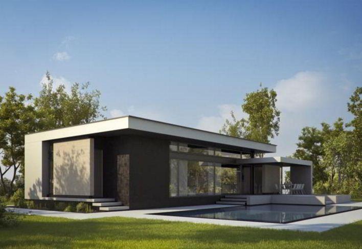 Resultado de imagen para frente de casas minimalistas una for Casas minimalistas de una planta