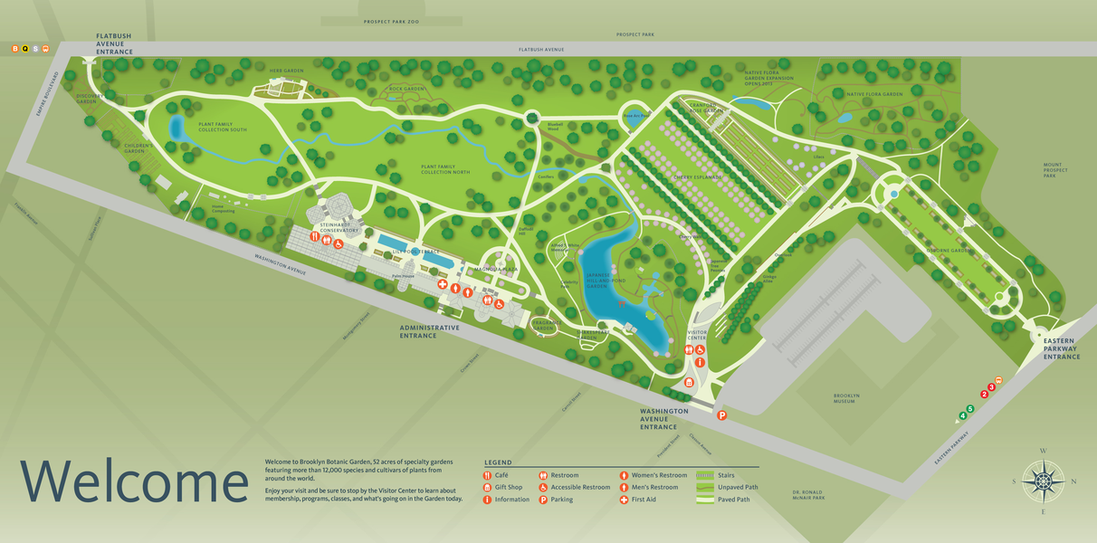 Project image 2 for signs wayfinding brooklyn botanic - New york botanical garden directions ...