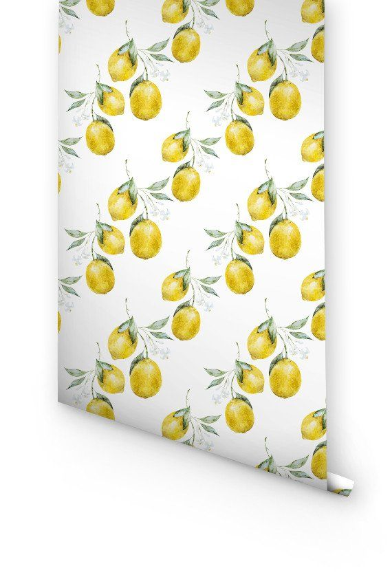 Lemon Wallpaper Fruit Wallpaper Self Adhesive Wallpaper Removable Wallpaper
