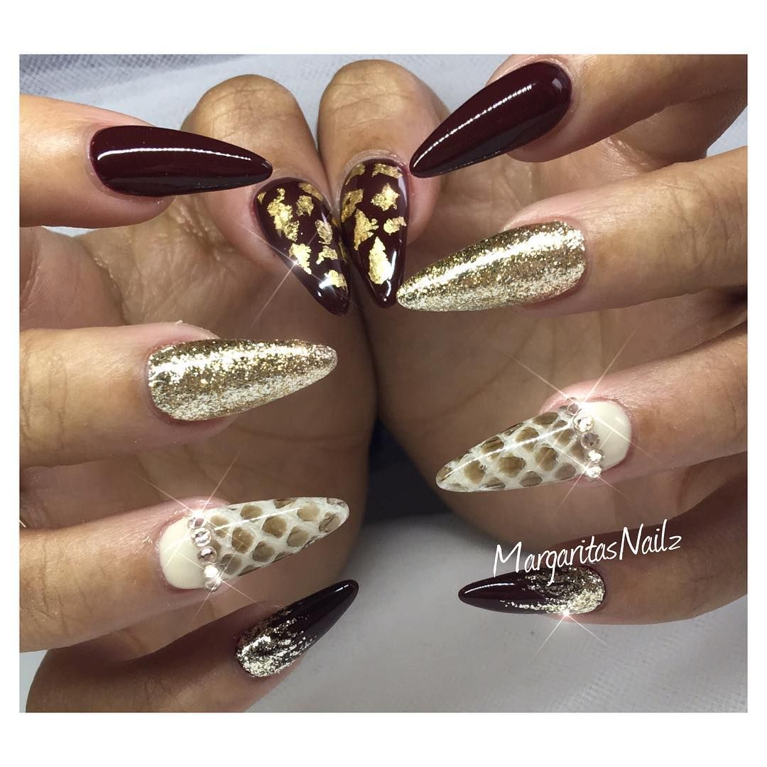 Fall nails by @MargaritasNailz | Color Coated | Pinterest ...