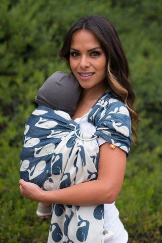 TULA Baby Carriers   Toddler Carriers — Beluga Wrap Conversion Ring Sling - Sea