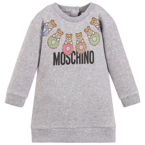 83901da4a4a Moschino Baby - Grey Teddy Print Baby Dress