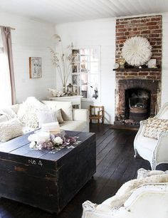 Shabby Chic Living Room Dark Wood Google Search Decorating - Shabby chic bedroom with dark furniture