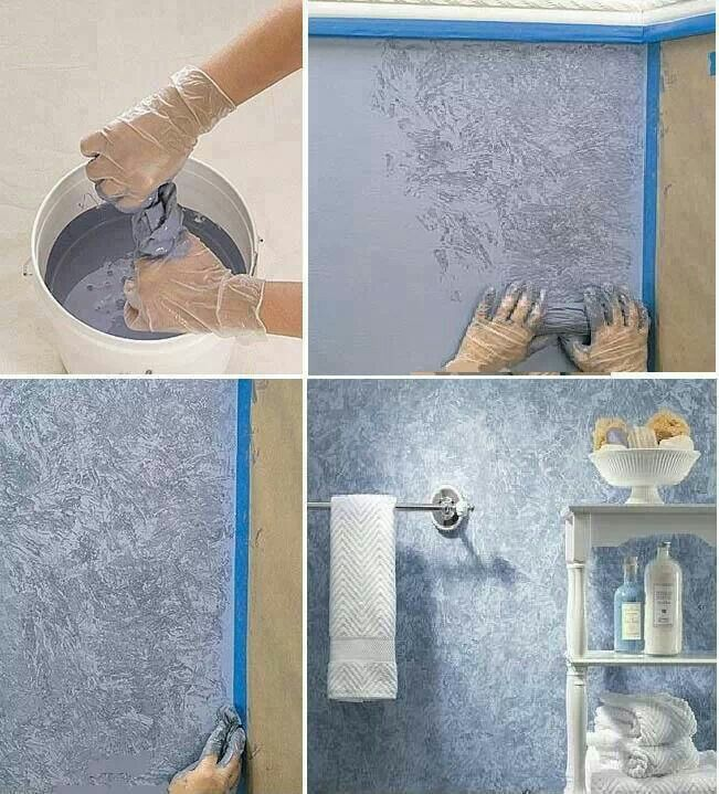 Plastic Bag Or Sponge To Paint Effect Diy Wall Painting Wall