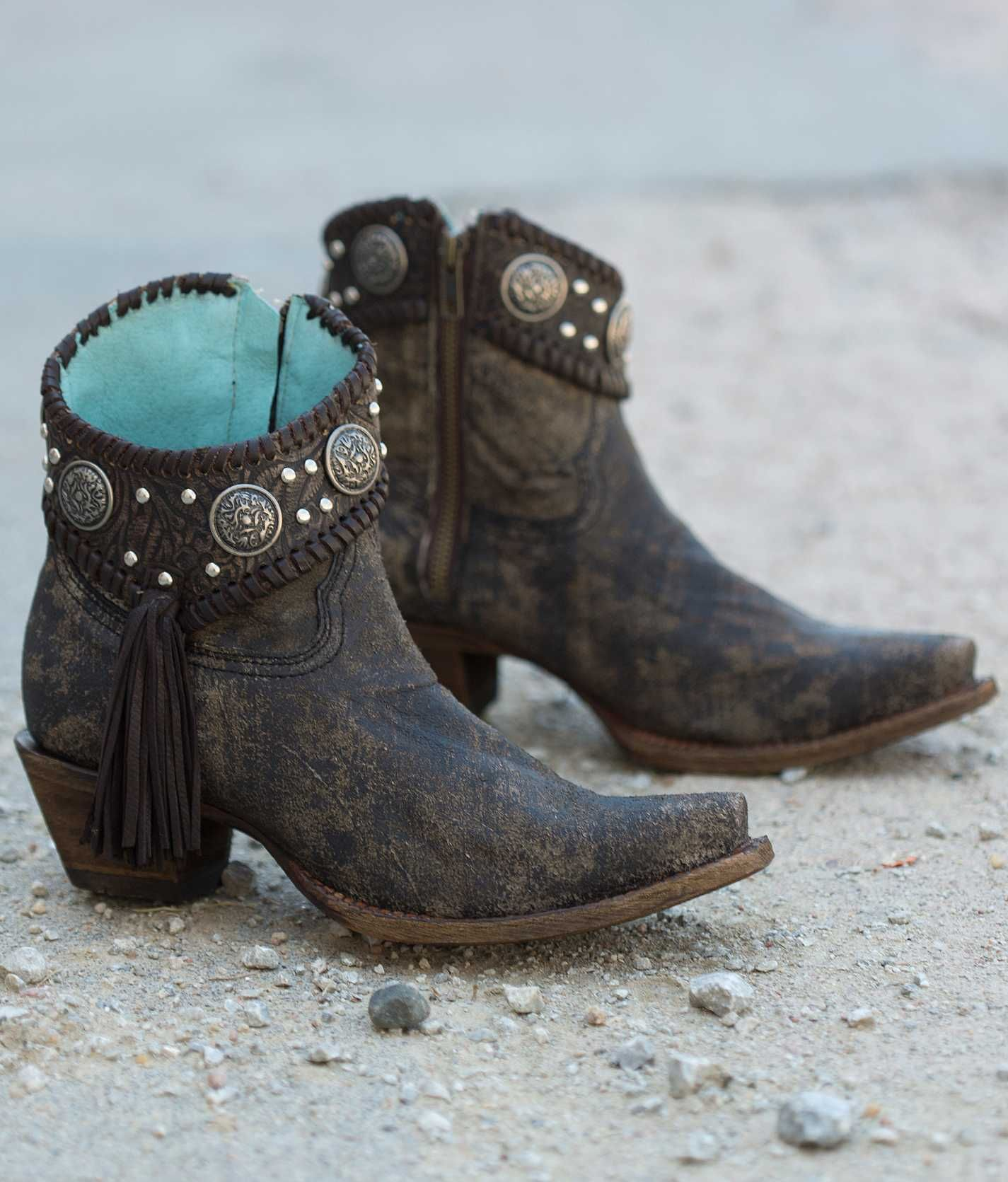 How to brown wear cowboy ankle boots catalog photo